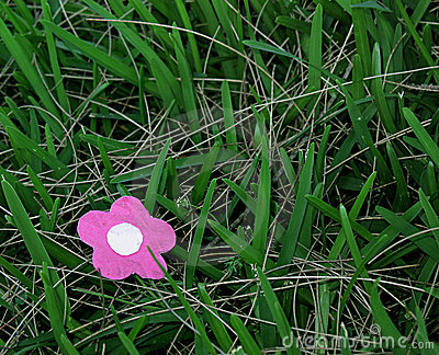 Paper Flower in Grass