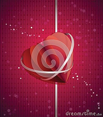 Paper folded heart