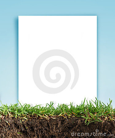 Paper frame in the grass
