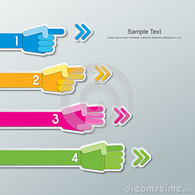 Free Paper Hand Number Infographics Royalty Free Stock Photo - 45196655