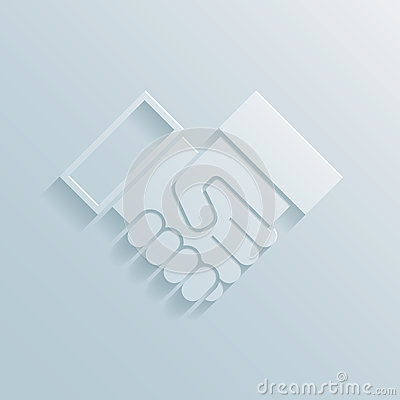 Paper handshake icon Vector Illustration
