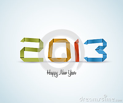 Paper Happy New Year 2013 vector card