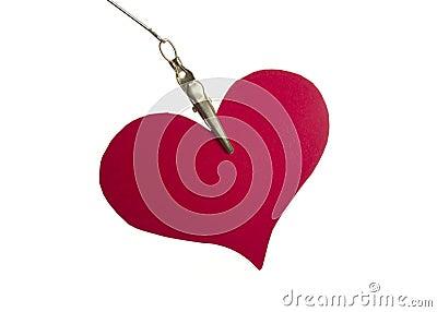 Paper heart handing