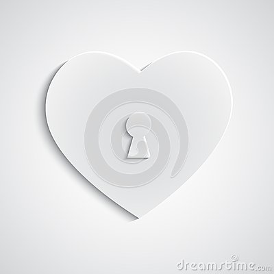 Paper heart with keyhole