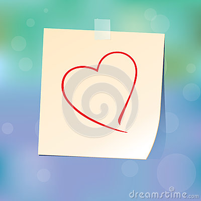 Free Paper Heart On Glass Stock Image - 28788801