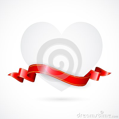 Paper Heart with Ribbon