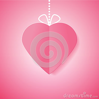 Free Paper Heart. Symbol Of Love For Your Design. Vector Illustration Stock Photo - 37258690