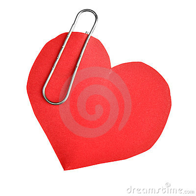 Free Paper Heart With Clip Royalty Free Stock Photos - 16852508
