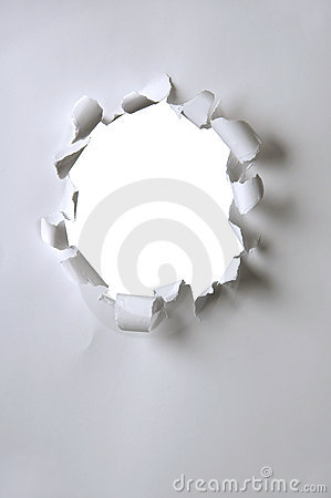 Paper With Hole Stock Photos - Image: 2282143