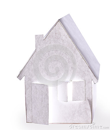 Paper house.Isolated