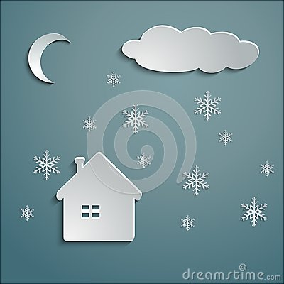 Paper house winter