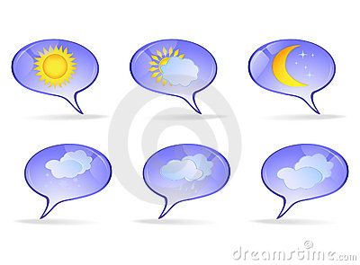 Paper icons with the weather image