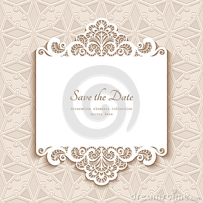 Free Paper Lace Card Royalty Free Stock Photo - 98307045
