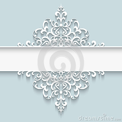 Free Paper Lace Divider Frame Stock Photos - 46884943