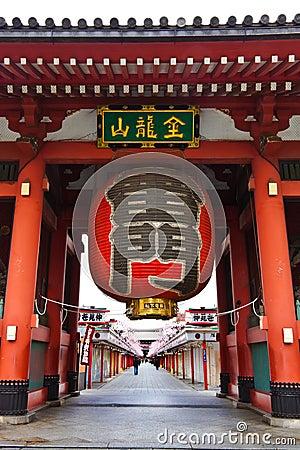 Paper Lantern At Sensoji / Asakusa Temple.