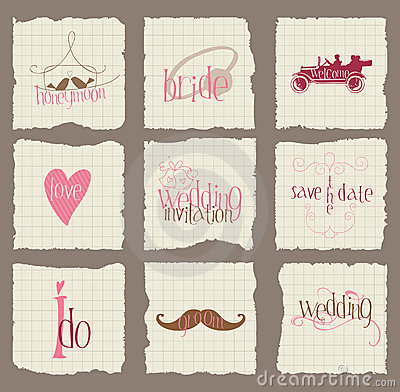 Paper Love and Wedding Design Elements