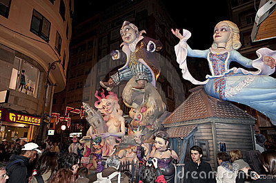 Paper mache figures, Valencia, Fallas Editorial Photo