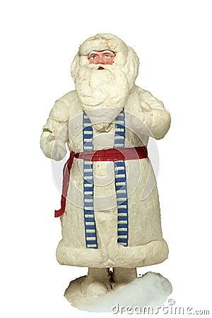 Paper-mache Santa Claus toy