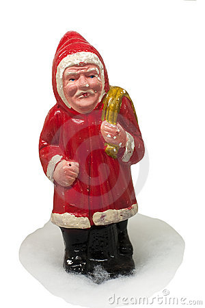 Paper-mache Santa Claus toy (with sack)