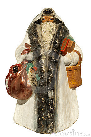 Paper-mache Santa Claus toy (with sack and basket)