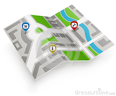 Paper map icon