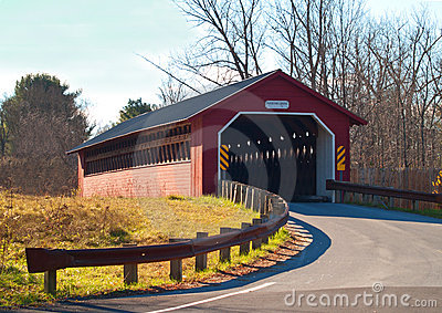 Paper mill covered bridge in vermont Editorial Image