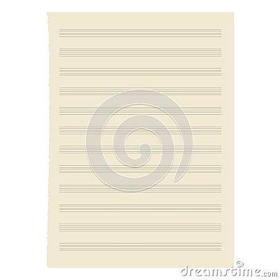 Paper music sheet.