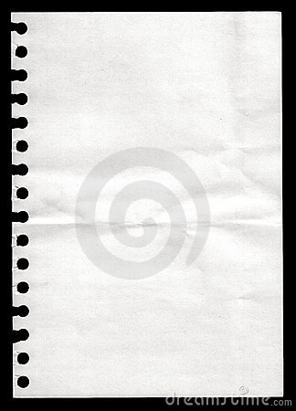 Paper from a notebook