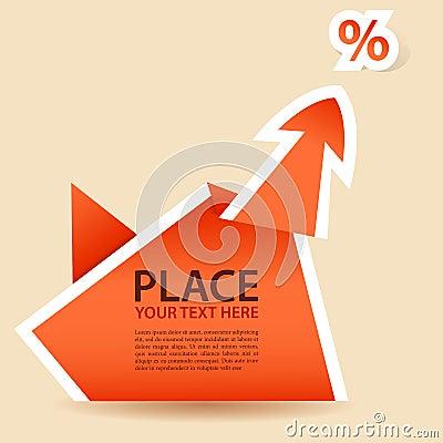 Paper Origami Arrow