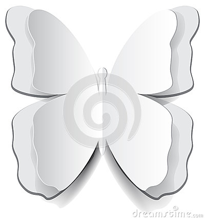 Paper origami butterfly