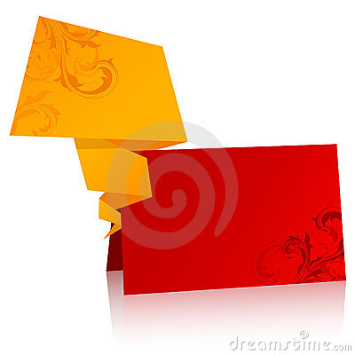 Paper origami speech bubble Vector Illustration