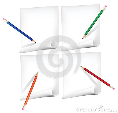 Paper and  pencils