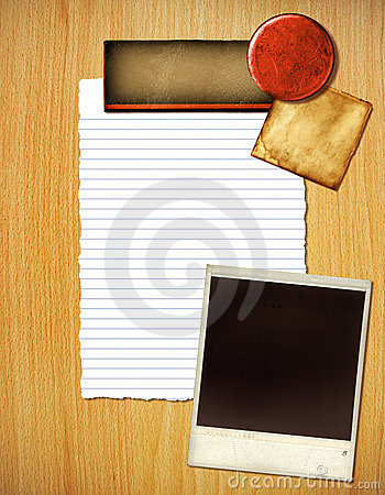 Paper And Photo Layout Royalty Free Stock Images - Image: 17206279