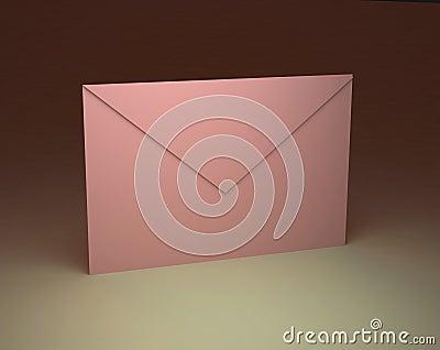 Paper pink envelope