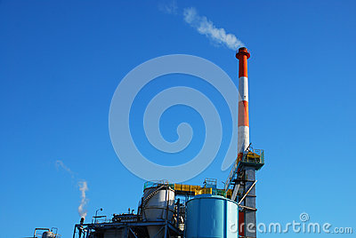 Paper plant chimneys