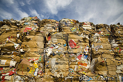 Paper recycling Editorial Stock Photo