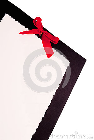 Paper with Red Bow