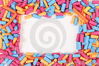 Paper Roll Art Border Royalty Free Stock Photography