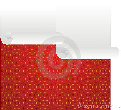 Paper roll and red frame