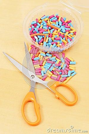 Paper Rolls with Scissor
