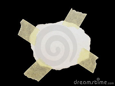 Paper scrap isolated