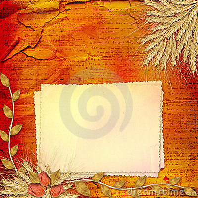Paper in scrapbooking style with bunch of rose