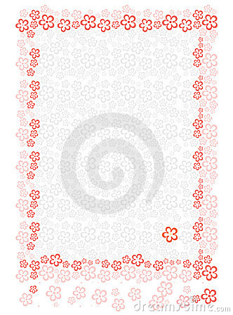 Paper sheet with floral background