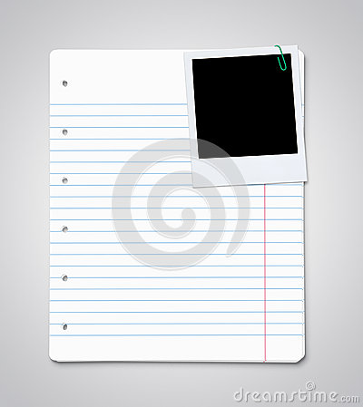 Paper sheets with blank photo