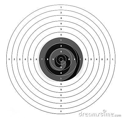 Paper shooting target