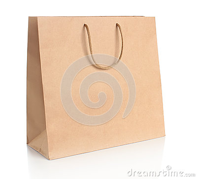 Free Paper Shopping Bag With Handles Stock Images - 31298314