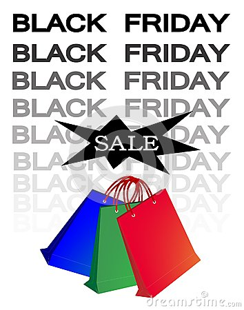 Paper Shopping Bags for Black Friday Sale
