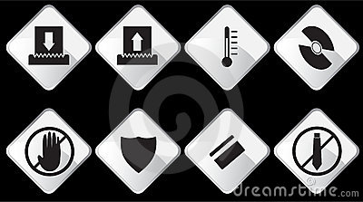 Paper Shredder Icons - Black and White