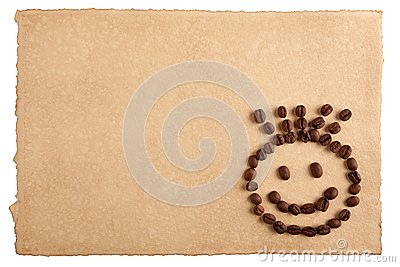 Paper and a smiling face