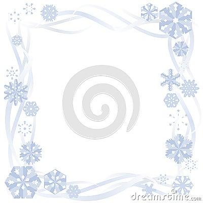 Paper Snowflake Border Royalty Free Stock Image - Image: 6159506